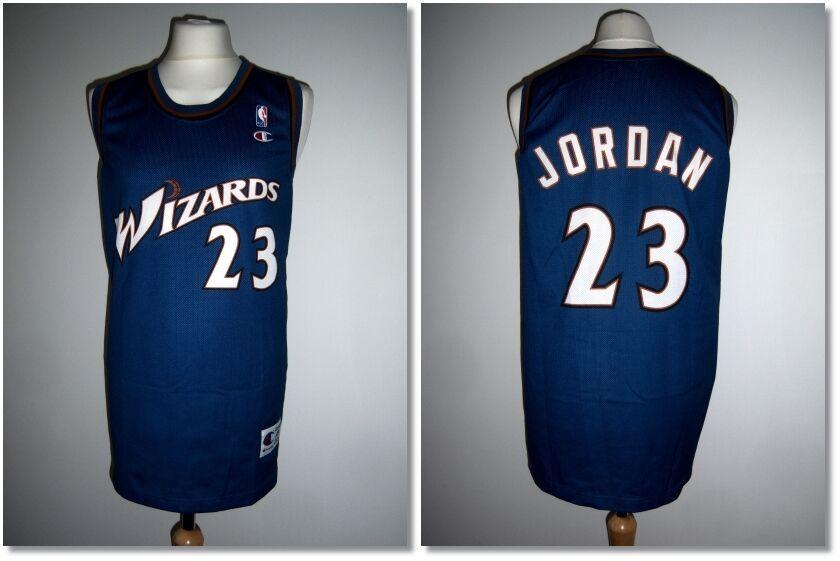 Rare Washington Wizards Jordan NBA Jersey Champion Authentic Apparel XL Exc