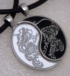 Original design Dragon Tiger Japanese Split Yin Yang Pewter ...