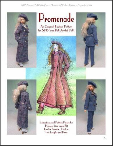 "/""Promenade/"" 60 cm BJD Ball Jointed Doll Fashion Clothing Pattern 24/"""