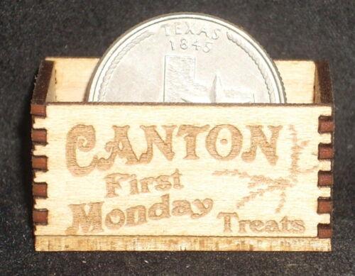 Dollhouse Miniature Canton First Monday Produce Crate 1:12 Store Texas Farm