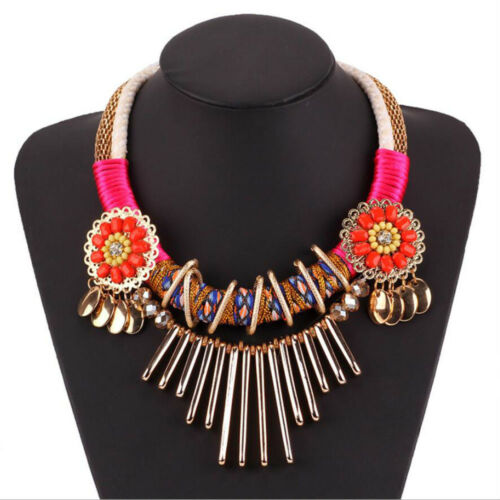 Fashion Charm Choker Chunky Chain Bib Pendant Beautiful Women Necklace Jewelry