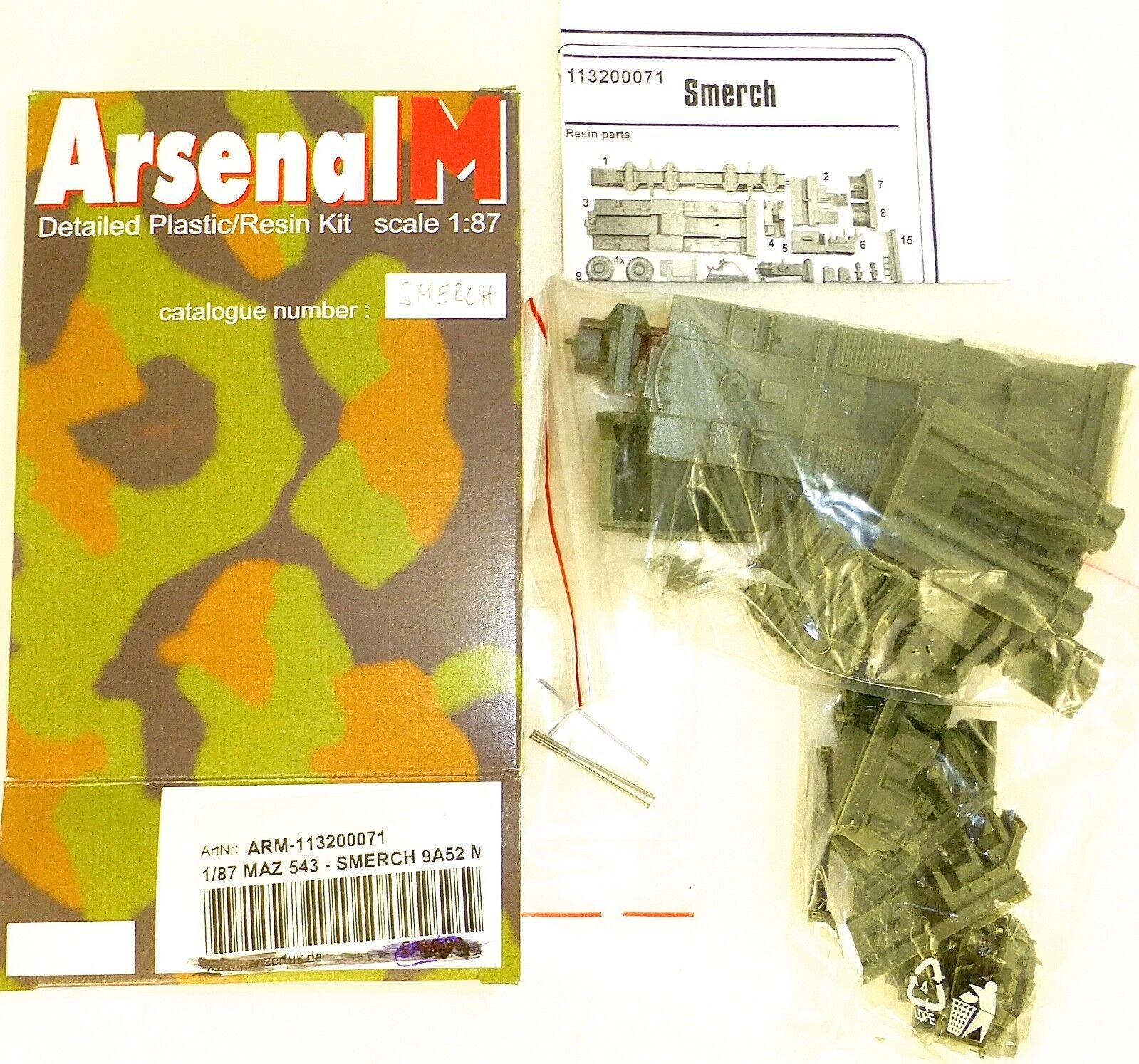 Maz 543 smerch 9A52 m arm 113200071 Arsenal m m m bausatz ungebaut 1 87 å 67a5a3