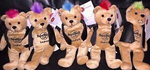 5-Hard-ROCK-Cafe-SAIPAN-2009-PUNK-ROCK-Teddy-Bearas-w-Mohawk-Plush-Bear-ARCHIVE