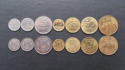 5 10 25 50 Kopiyok and 1 hryvnia 2014 Ukraine Coin Set aUNC//UNC