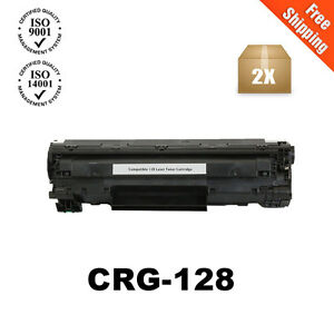 2pk Black Toner Cartridge For Canon 128 Imageclass D530 D550 Mf4770n