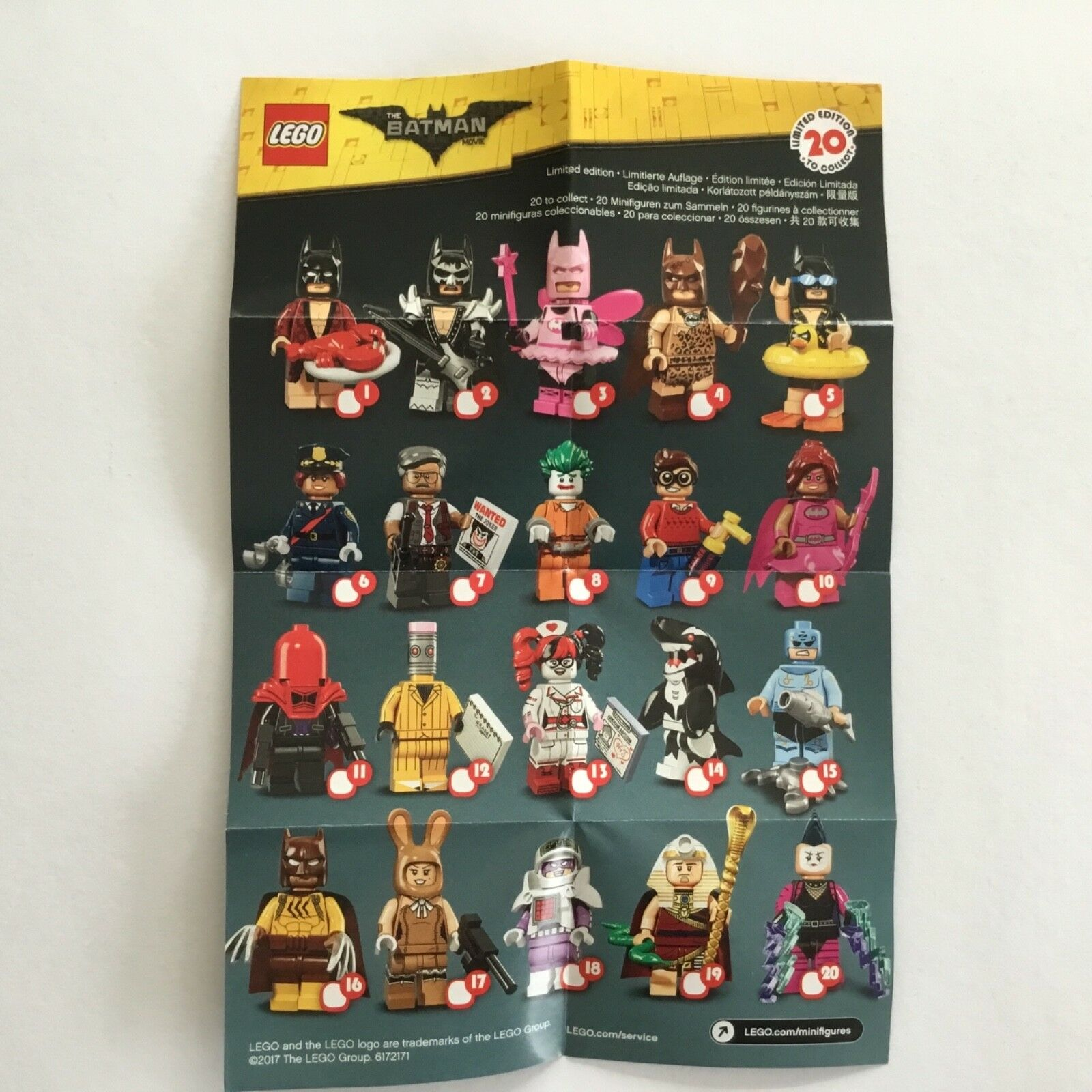 LEGO sammelfiguren 71017 Batman MOVIE-Completo 20 PERSONAGGI NUOVO
