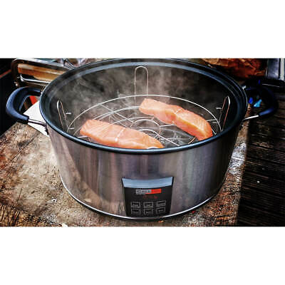 500W with Hot or Cold Smoke Digital Electric Smoker for Kitchen and Outdoor use