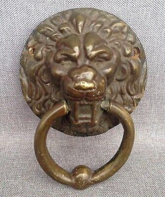 Antique French Door Knocker Made Of Bronze Lion Head 19th Century Castle  Mansion | EBay