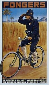 BICYCLE-VINTAGE-AD-POSTER-Fongers-RARE-HOT-NEW-1