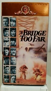 A-Bridge-Too-Far-VHS-1977-Color-WWII-Sean-Connery-Gene-Hackman