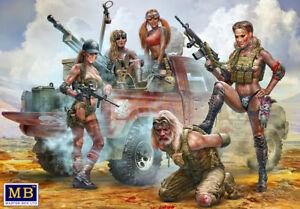 Master-Box-35199-1-35-Desert-Battle-Series-Skull-Clan-New-Amazons-Plastic-Kit