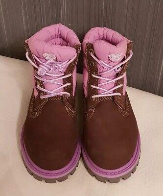 san francisco 9cf0d 90cd4 Timberland Kinder winter Schuhe Boots Rosa Braun Gr 26 Neu   eBay