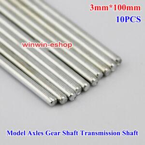 10PCS 3mm*100mm Model Axles Gear Shaft Transmission Shaft Toy Car Accessories