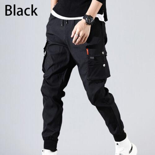 Mens Pockets Cargo Pants Casual Harem Joggers Baggy Harajuku Streetwear Hip Hop