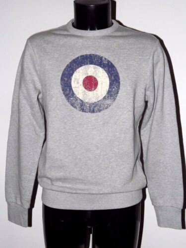 BEN SHERMAN SWEATSHIRT TARGET CREWNECK MD11488 LIGHT GREY XS SM XXL PRINT SWEAT