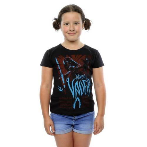 Girls Official Star Wars Darth Vader Short Sleeve Black T-Shirt  Free P+P
