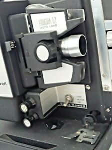 * TESTED Bell and & Howell Auto load 8mm Lumina 1.2 12 Projector Movie reel film