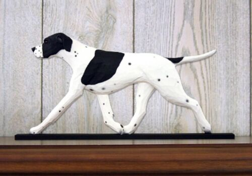 English Pointer Sign Plaque Wall Decor Black//White