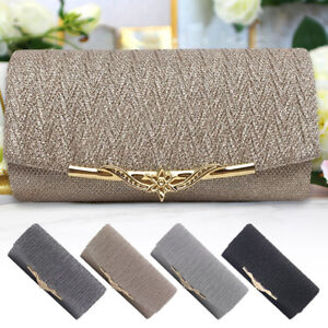 6408e687b5 Image is loading Women-Evening-Bag-Clutch-Wedding-Prom-Party-Shoulder-
