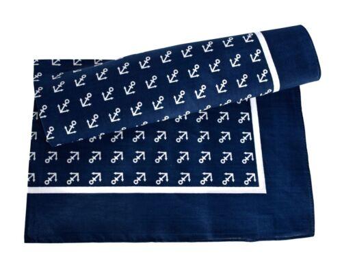 bufanda vintage bandana 70x70cm rojo o azul ancla Viereckstuch