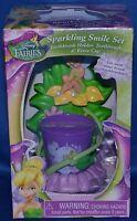 Disney Fairiessparkling Smile Settoothbrush Holderbrush & Rinse Cupbathroom