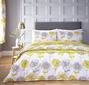 Catherine-Lansfield-Banbury-Yellow-Floral-Duvet-Cover-Bedding-Set