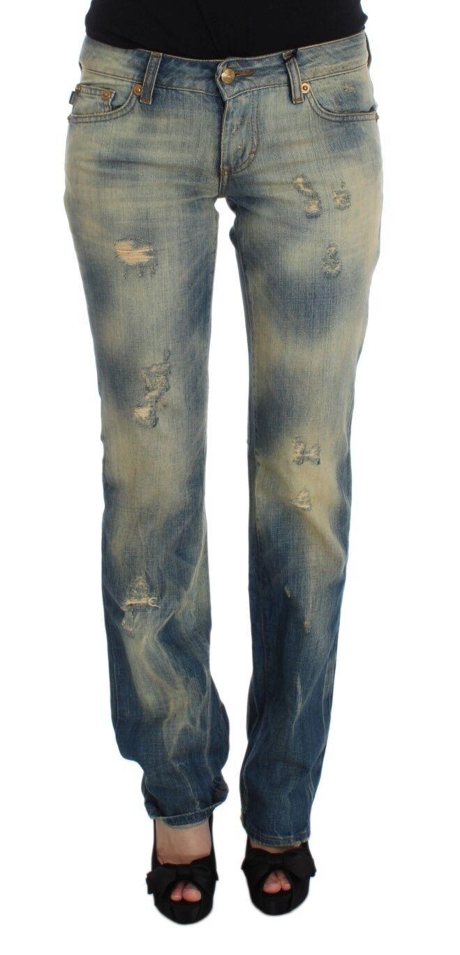 NEW  JUST CAVALLI Jeans Pants bluee Wash Cotton Slim Fit Bootcut Denim s.W26