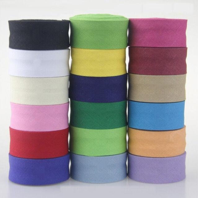25mm Plain polycotton bias binding for sewing /& crafts per 2 metre lengths