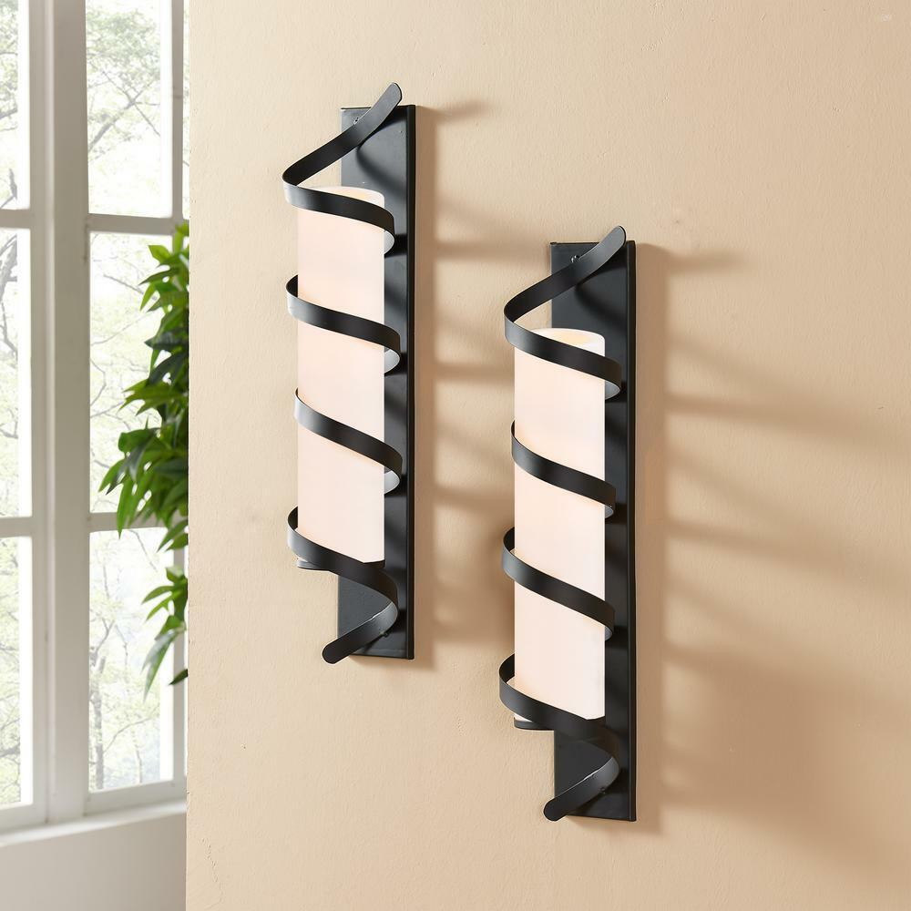 2-Set Metal Apliques de Parojo Vela Velas Pilar Grande montado en la parojo decoración hogar