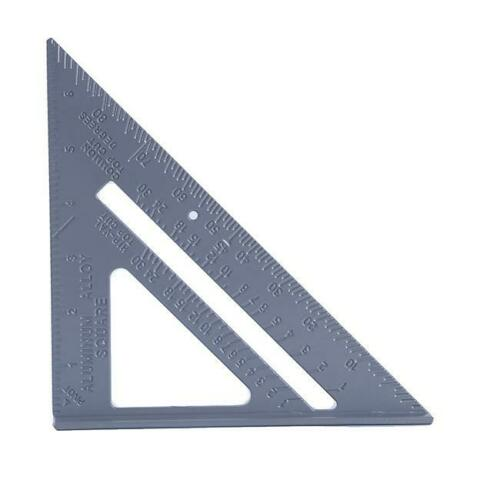 90 Degree Triangle Ruler Zinc Alloy Ruller Woodworking Measuring Tool C