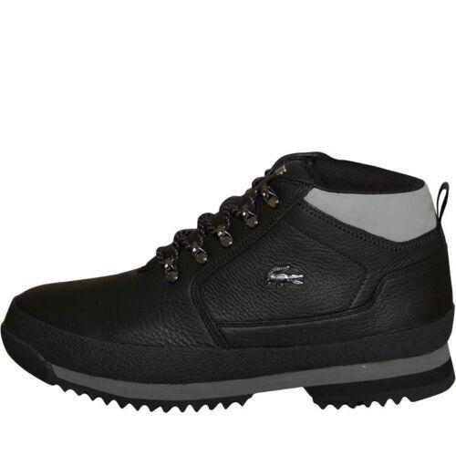 Nouveau Noir Gris 42 8 Upton En Bottes Hiker Cuir Hommes Eu Lacoste Uk FAqrF
