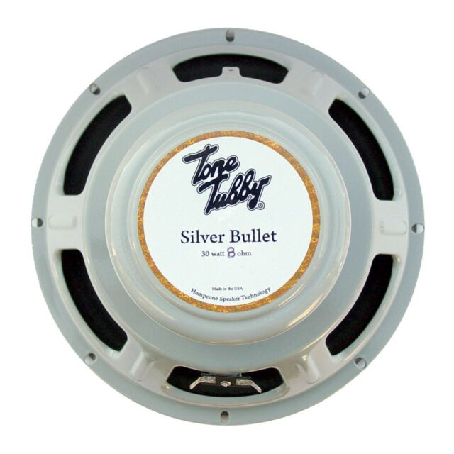 """Warranty Tone Tubby 10/"""" Silver Bullet Alnico Hempcone Guitar Speaker 8 ohm NEW"""
