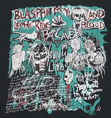 L *vtg 80s 1983 BATCAVE Young Limbs London goth t shirt specimen alien sex fiend
