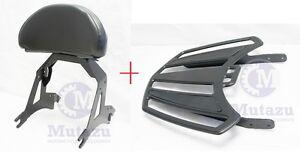 Image Is Loading Detachable Black Backrest Sissy Bar Amp Luggage Rack