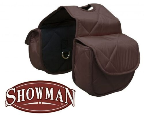 Showman BROWN Insulated Quilted Nylon Western Horn Bags! NEW HORSE TACK!!