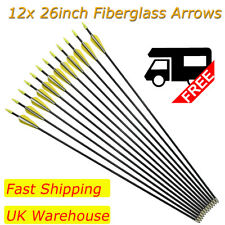 12pcs Fiberglass Arrows Archery 28-32 Inch Target Shooting Practice Safetyglass