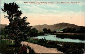 Rutland-Vermont-Otter-Creek-Valley-Fenceline-Road-Curves-Past-1908-Postcard