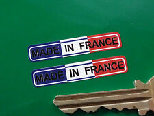 """MADE IN FRANCE Tricolore Bike STICKERS 1.5"""" Pair Motorcycle Velosolex Peugeot"""