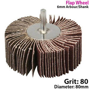 80mm-Flap-Wheel-80-Grit-For-Drill-Attachment-Sanding-amp-Rust-Removal