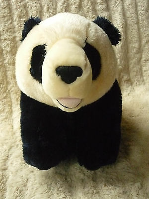 LARGE PLUSH BLACK & CREAM PANDA SUPERSOFT CUDDLY BEANIE PAWS EXCELLENT COND