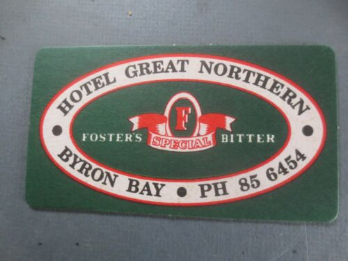 1 only FOSTER,S SPECIAL BITTER Hotel Great Northern Special BEER COASTER