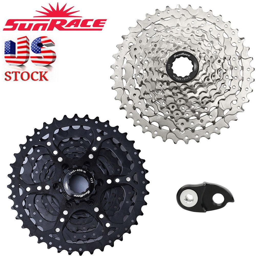 US SunRace 9  velocidad 11-40T Bicicleta de Montaña Bici ajuste Shimano SRAM rueda libre Adaptador De Cassette  Compra calidad 100% autentica