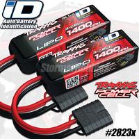 2-pack Traxxas 2823x Lipo 3s 11.1v 1400mah 25c W/id Connector 1/16 Summit Vxl Id