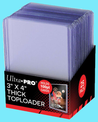 25 ACEO ART CARD Rigid Thick 100pt Toploader Storage Sleeve Acid Free 3x4 ATC