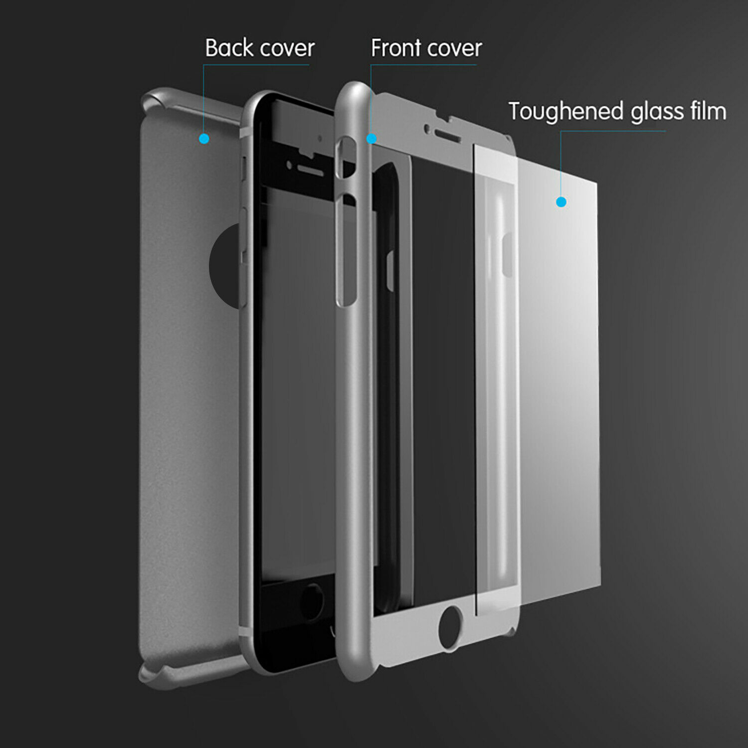 For iPhone 6s 7 8 5s Plus XR XS Max Case Shockproof360 Bumper Hybrid Phone Cover 2