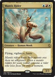 FOIL-Cavalcamantidi-Mantis-Rider-MTG-MAGIC-KTK-Khans-of-Tarkir-Eng-Ita