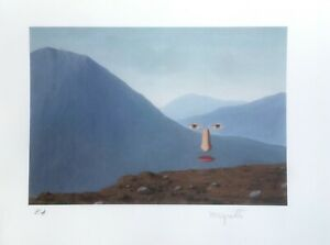 RENE-MAGRITTE-Untitled-Hand-Signed-High-Quality-Color-Lithograph