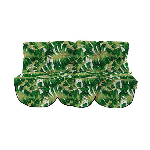 Ss18 Palm Tropical 2 Seater Swing Seat Cushion Replacement Garden Hammock Pad Ebay