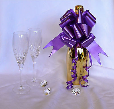 CADBURY PURPLE Large Pull Bows Wedding Decoration, Church Pews, Top Table, Chair