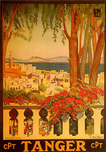 Tanger Tangier Morocco North Africa Travel Tourism Vintage Poster Repo FREE S/H